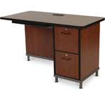 Right Return with Two File Drawer Pedestal for Instructor Desk