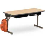 Steel Book Box for Classroom Desks