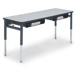 Fabulous 60 Wide Double Student Adjustable Desk With Book Boxes Download Free Architecture Designs Pushbritishbridgeorg