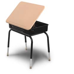 Lift Lid Student Desk with Plastic Top