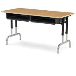 Double-Student Tank Desk with Laminate Top